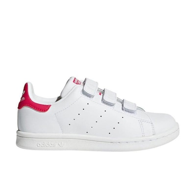 Adidas Stan Smith Cf C Shoes Ftwwht/ftwwht/bopink