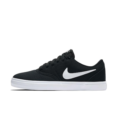 Nike Sb Check Solarsoft Canvas W Shoes Black/wht-pr Pltnm