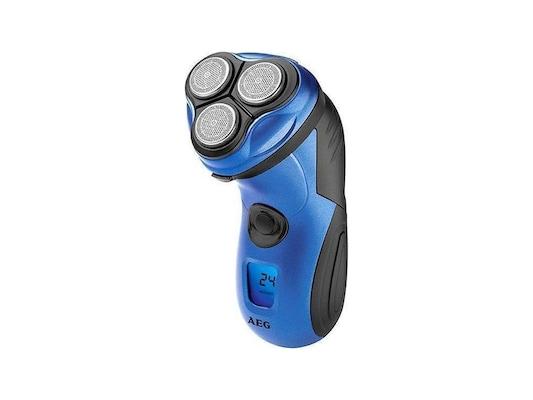 Aeg Hr 5655 Επαναφορτιζόμενη Ξυριστική Μηχανή Τριπλού Συστήματος Κοπής Σε  Μπλε Χρώμα e5dc58ac2ce