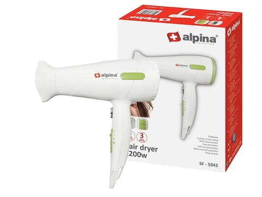 Alpina Switzerland Πιστολάκι Μαλλιών 2000w Με 3 Επίπεδα Θερμοκρασίας Και 2  Ταχύτητες Σε Λευκό Χρώμα f9e7c0f121b