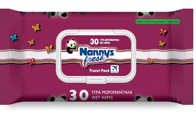Nannys Fresh Υγρομάντηλα 30 Τεμαχίων Με Πλαστικό Καπάκι
