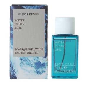 Korres Eau De Toilette,edt,fragrance Men,water,cedar,lime,50ml