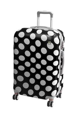 3ef1a92b7f A2s Βαλίτσα Polka Dot Black Μεσαία (65x40x28)