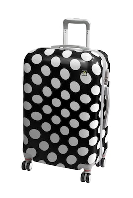 af55db58f5 A2s Βαλίτσα Polka Dot Black Μεσαία (65x40x28)