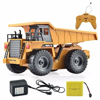 Rc Dump Truck 2.4ghz 6-channel ( Abs & Metal ) With Battery And Charger