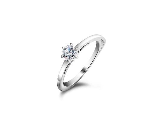 4c5d9ce08e Δαχτυλίδι Μονόπετρο Από Ασήμι 925 Με Ζιργκόν Και Κρύσταλλα Swarovski  Διαμέτρου 17.5mm