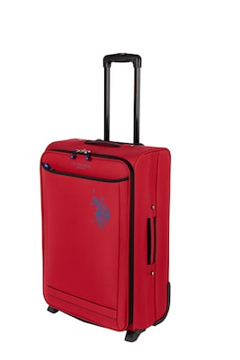 Us Polo Assn. Βαλίτσα Trolley Μεσαία Soft 61x42x21cm 2 Ρόδες Red