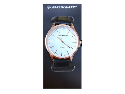 Dunlop Unisex Αναλογικό Ρολόι Χειρός Με Λευκό Καντράν 1108ffa1dfa