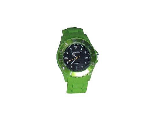 Dunlop Ρολόι Trendy Unisex Ελβετικός Μηχανισμός Quartz Λουράκι Από Σιλικόνη  Πράσινο Με Λευκές ασημί Ενδείξεις 2fb5b1badd0