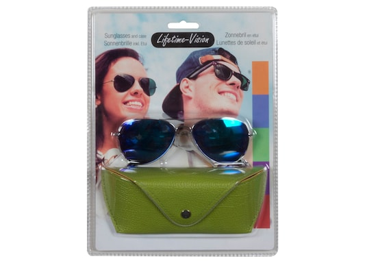 f8fe97971f Lifetime Vision 93969 Πράσινο Unisex Γυαλιά Ηλίου Με Μεταλλικό Σκελετό  Τύπου Aviator Και Θήκη
