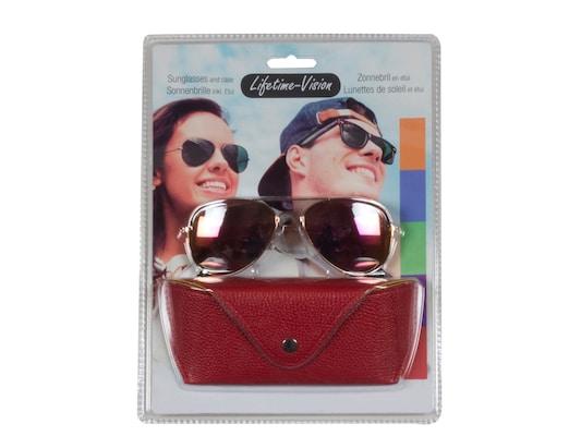 816bf0ec16 Lifetime Vision 93969 Κόκκινο Unisex Γυαλιά Ηλίου Με Μεταλλικό Σκελετό  Τύπου Aviator Και Θήκη
