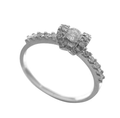 Μονόπετρο Δαχτυλίδι Από Ασήμι Με Πέτρες Ζιργκόν  c4d3a63a507