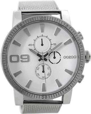 Ρολόι Oozoo Timepieces Silver Metallic Bracelet  5f44035f883
