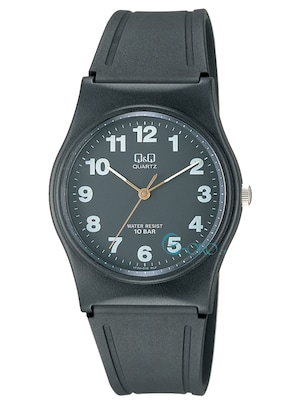 6ea51654829 Ρολόι Q&Q Black Rubber Strap Vp34-010