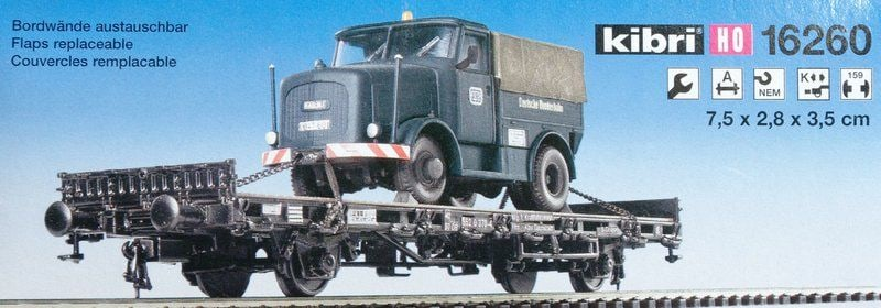 Βαγόνι Εμπορικό Kibri Flat Car With Load Truck Kit Kibri 16260