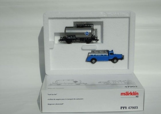 Βαγόνι Εμπορικό Marklin 47903 Wagon Set Fuel Aral Tank Truck Type Bussing 65  Marklin 47903