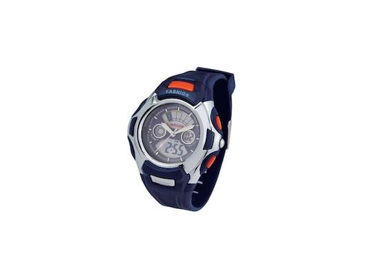 Ρολόι Sport Unisex Αναλογικό Ψηφιακό Με Πολλές Λειτουργίες Σε Μπλε Σκούρο  Χρώμα Με Ασημί Ενδείξεις 7d096256cd8