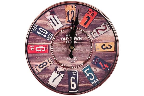 Ρολόι Τοίχου Ξύλινο Φ23 Εκ. Old Town - Keskor 832323-4 7d2083ba75a