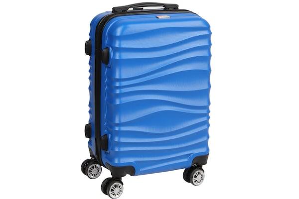9c0b9daf2a Βαλίτσα - Τρόλεϊ Πλαστική Καμπίνας Με 4 Ρόδες Μπλε - Hp 01.18.0012s