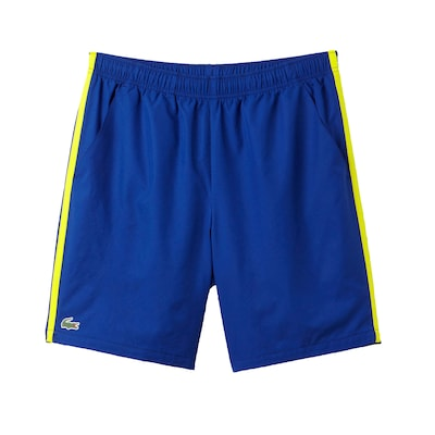 Lacoste Sport Contrast Band Bl Yl Wh Tennis Short