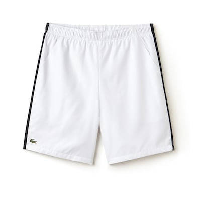Lacoste Sport Contrast Band Wh Bl Rd Tennis Short