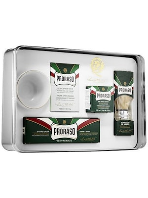 Proraso Gift Set Eucalyptus ( Preshave 100ml, Cream 150ml, After 100ml, Brush, Bowl)