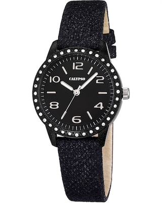 Calypso Ladies Black Leather Strap