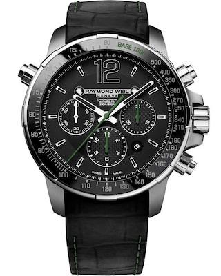Ρολόι Raymond Weil Geneve Nabucco Titanium Black Leather Strap 226f926b70e