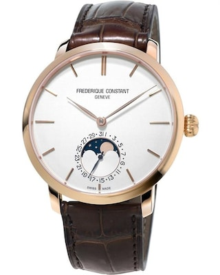 Ρολόι Frederique Constant Slimline Moonphase Brown Leather Strap b66974b4658
