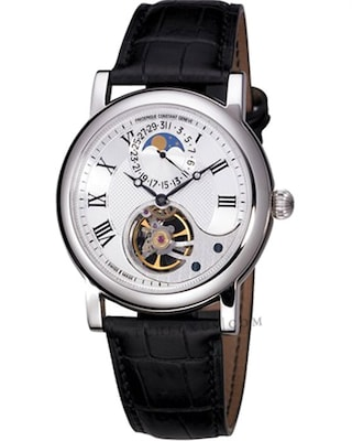Ρολόι Frederique Constant Automatic Heart Beat Black Leather Strap fd2bb87f8c4
