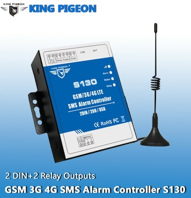 Gsm S130 3g 4g Sms Remote Controller Alarm(2din+2do+usb)