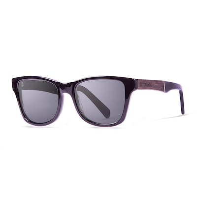 Ocean Laguna Sunglasses Shiny Black Frame/ebony Arm-smoke Lens