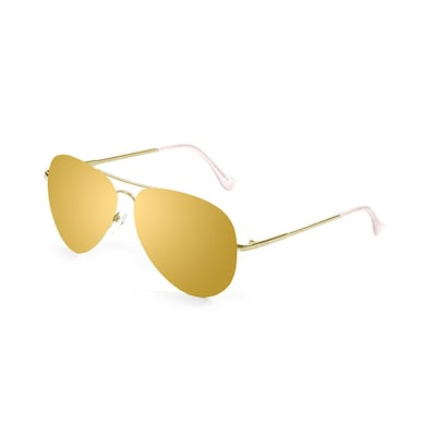 Ocean Bonila Sunglasses Gold Flat Lens With Gold Metal