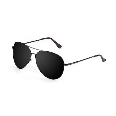 Ocean Bonila Sunglasses Smoke Flat Lens With Mate Black Metal