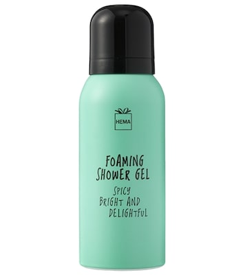 Hema Foaming Shower Gel Spicy Bright And Delightful 75ml Travel Size