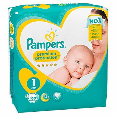 Pampers Premium Protection New Baby  Newborn No.1 22 Τεμ