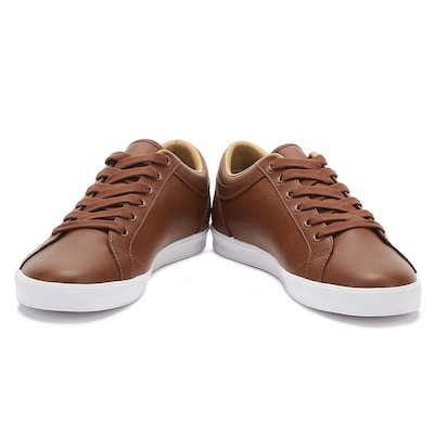 Sneaker Fred Perry Baseline Leather Tan Σε Σκούρο Καφέ Χρώμα Για Άνδρες
