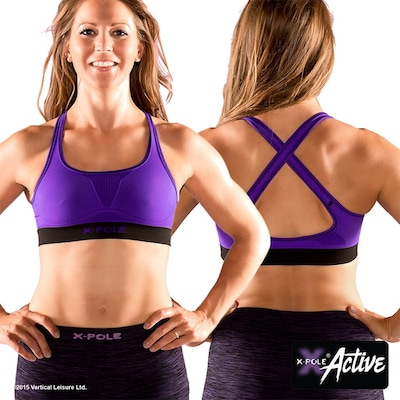 Seamless Crop Top Purple