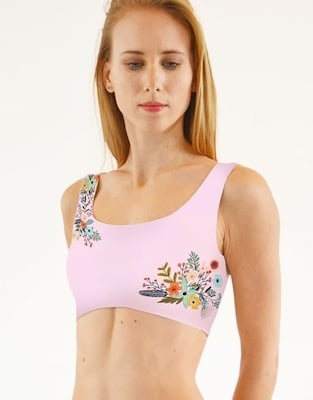 Boomkats Polewear Pole Dance Top - Flower