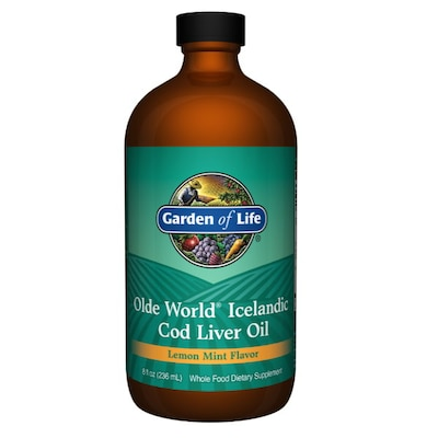 Garden Of Life Cod Liver Oil Lemon/mint X 236ml