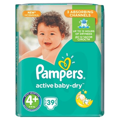 Pampers Active Baby Dry No.4 39 Τεμ