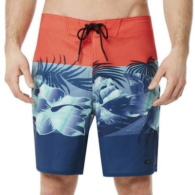 Άνδρικό Μαγιό Boardshorts Oakley Flower Block Seamless 19in Fire Red