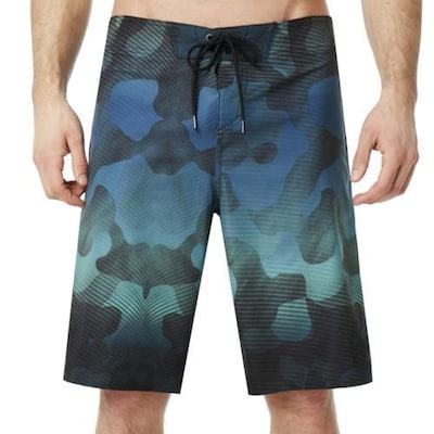 Ανδρικό Μαγιό Boardshorts Oakley Channel Flower 21inch Biscuit Camo Flash Blue
