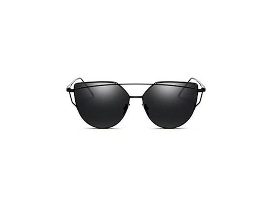 5b3239bc38 Γυναικεία Γυαλιά Ηλίου Καθρέφτης Cat Eye Sunglasses Με Μαύρο Μεταλλικό  Σκελετό Και Μαύρο Φακό