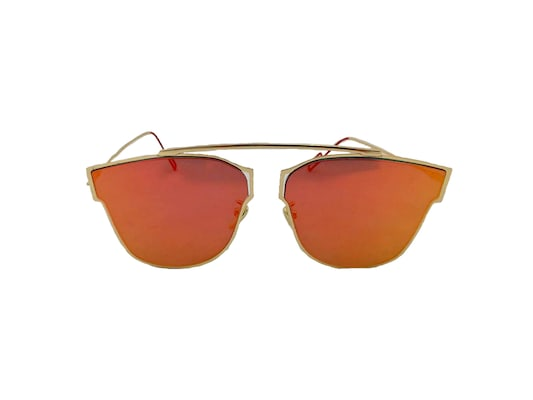 61f233f4d0 Γυναικεία Γυαλιά Ηλίου Καθρέφτης Avery Sunglasses Με Χρυσό Μεταλλικό  Σκελετό Και Πορτοκαλί Φακό