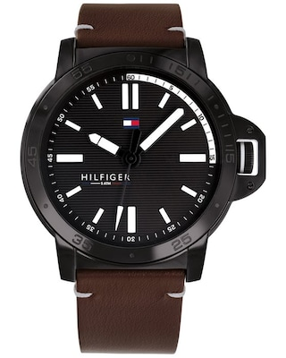 Tommy Hilfiger Sport Brown Leather Strap