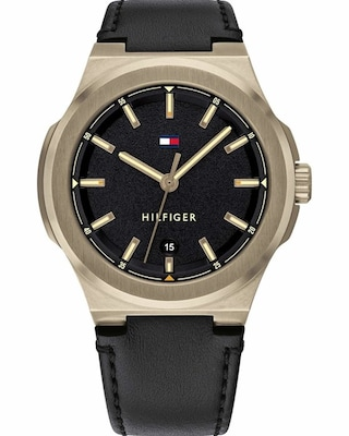 Tommy Hilfiger Casual Black Leather Strap