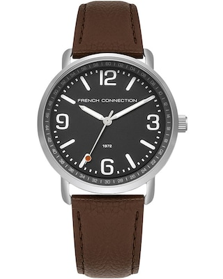 Ρολόι French Connection Mens Brown Leather Strap