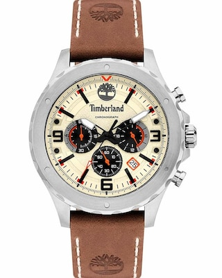 Timberland Greensboro Chronograph Brown Leather Strap