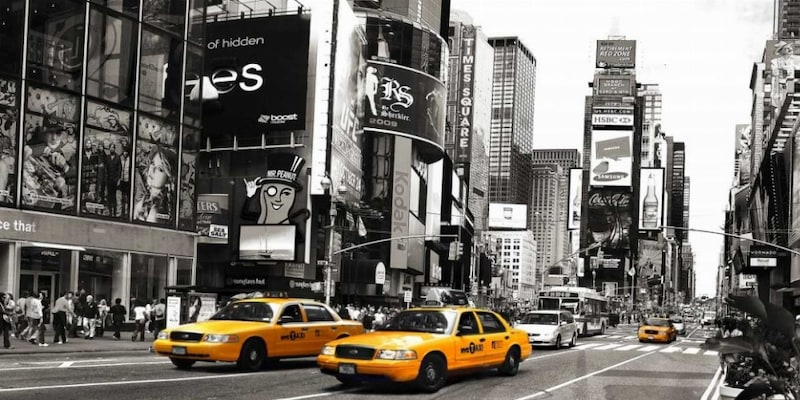 Αφίσα - Taxi In Times Square, Nyc - Anonymous